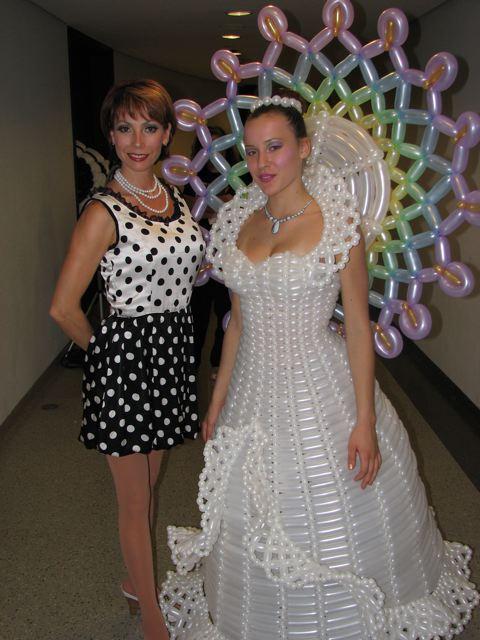 balloon wedding dress